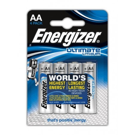 Pack 4 Pilas AA Energizer lithium Ultimate