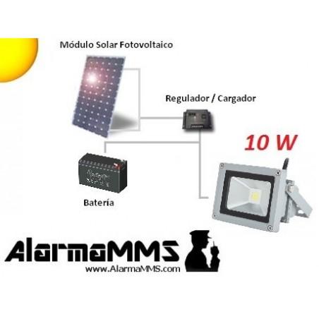 Kit solar Iluminación Foco LED 10W12AH
