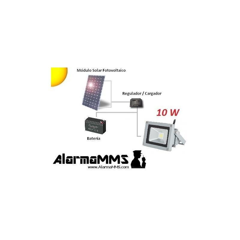 Kit solar Iluminación Foco LED 10W6AH