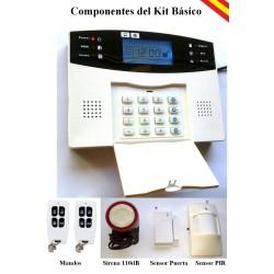 Alarma GSM-04 sensores con antena + Sensor vibraciones GRATIS!