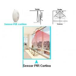 Sensor de movimiento PIR Cortina c/antena