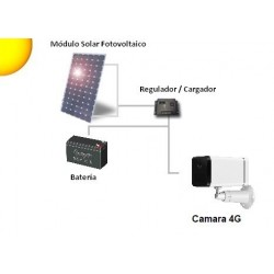 Camara Alarma 4G WiFi Exterior Bajo Consumo Solar